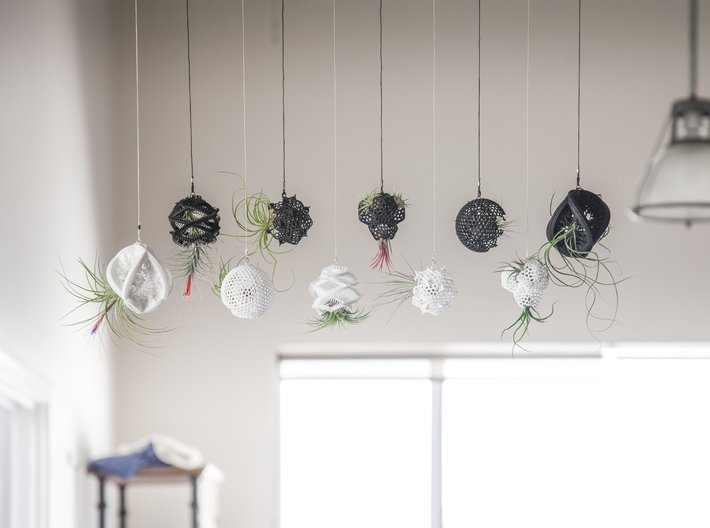 Radiolaria Tetrahedra Planter 3d printed More hanging designs in this series