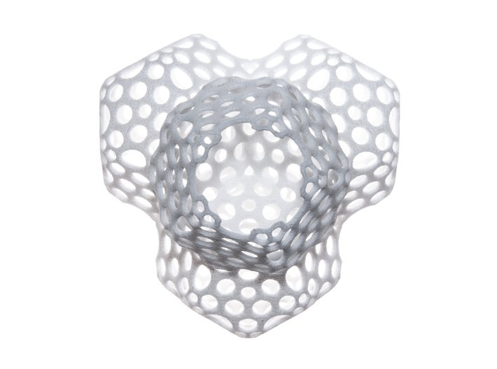 Radiolaria Tetrahedra Planter 3d printed
