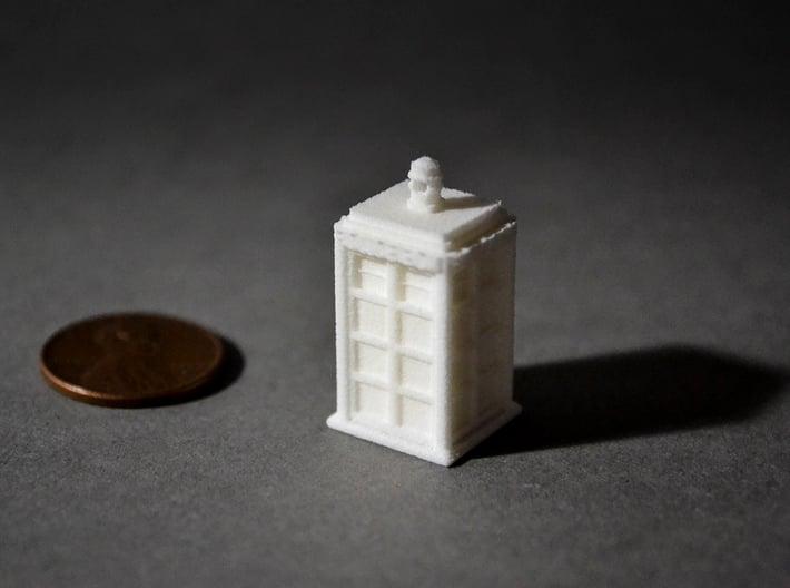 Tardis earring / pendant 3d printed