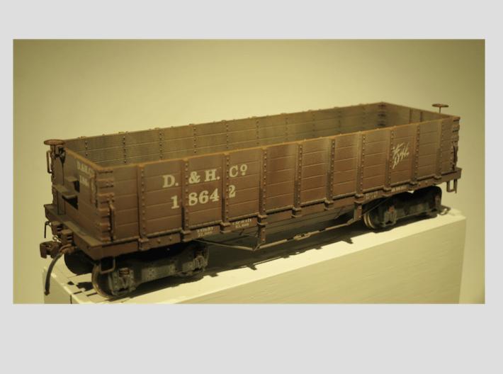 Hopper 5 Board Delaware & Hudson 1890 S Scale 1/64 3d printed