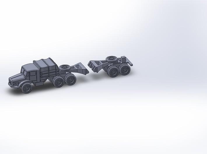 Hvy. Tank. Transporter Porsche 142 Z-Scale 1:220 3d printed