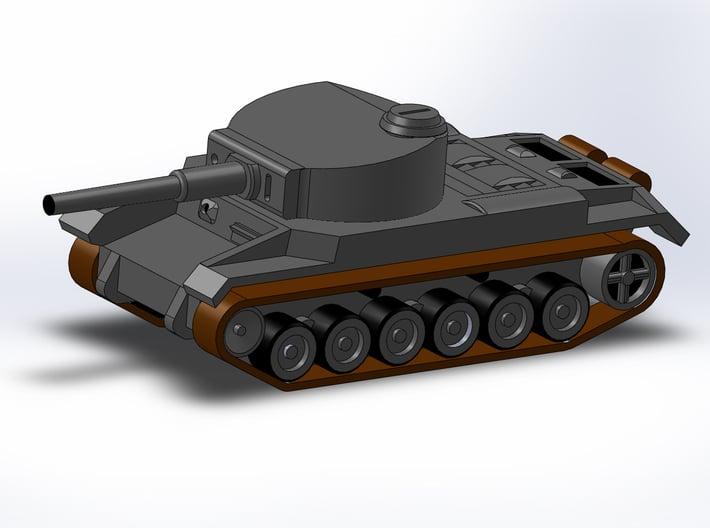 Porsche VK3001P Medium Tank Z-Scale 1/220 3d printed