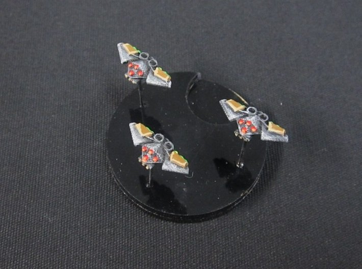 6 Arachnid Bombers 3d printed painted and based