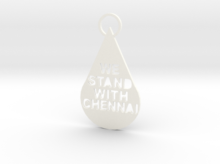"""""""We Stand With Chennai"""" Keychain 3d printed"""