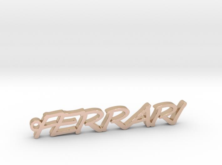 Pendant Ferrari Gold & precious metals 3d printed