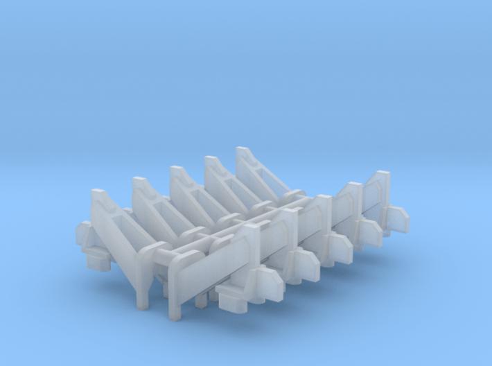 Wheel Stops (N - 1:160) 10X 3d printed