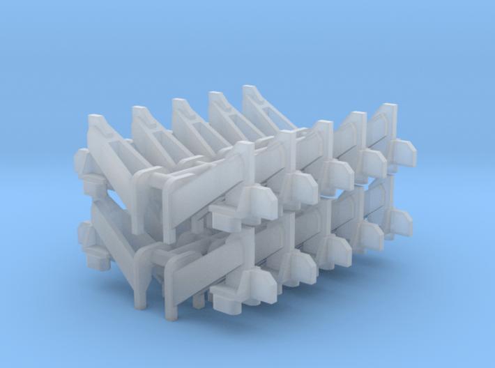 Wheel Stops (N - 1:160) 20X 3d printed