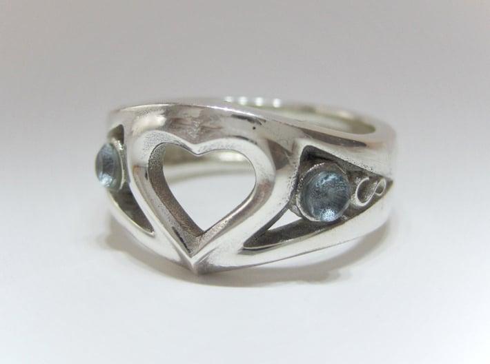 Heart Ring(inner diameter of ring17.4mm) 3d printed