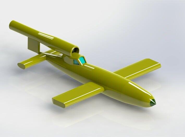 V1 Rocket Reichenberg 1/200 3d printed