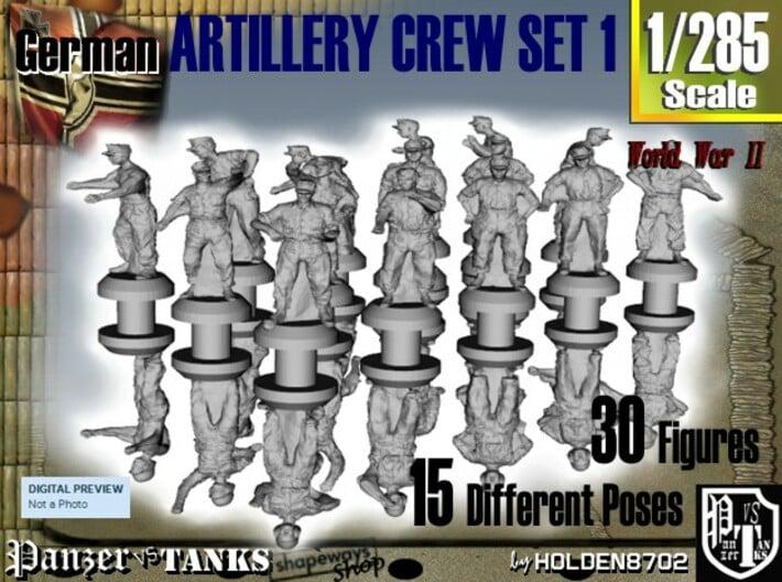 1-285 German Arty Crew Set 1 3d printed