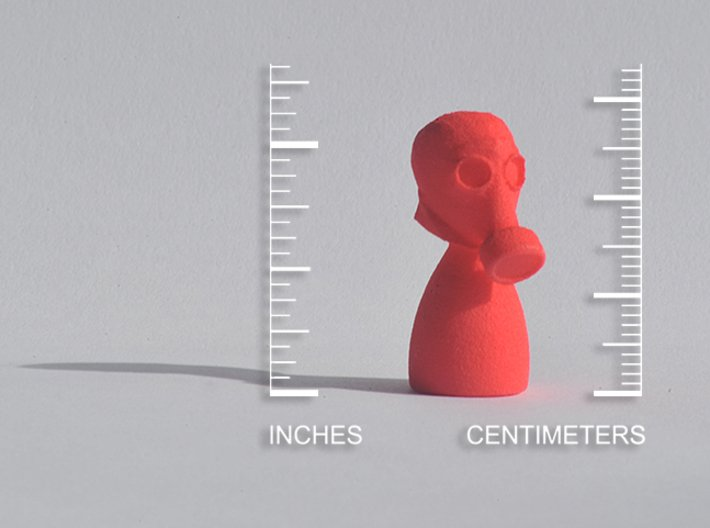 Gas Mask Piece 3d printed Coral Red Strong & Flexible Polished