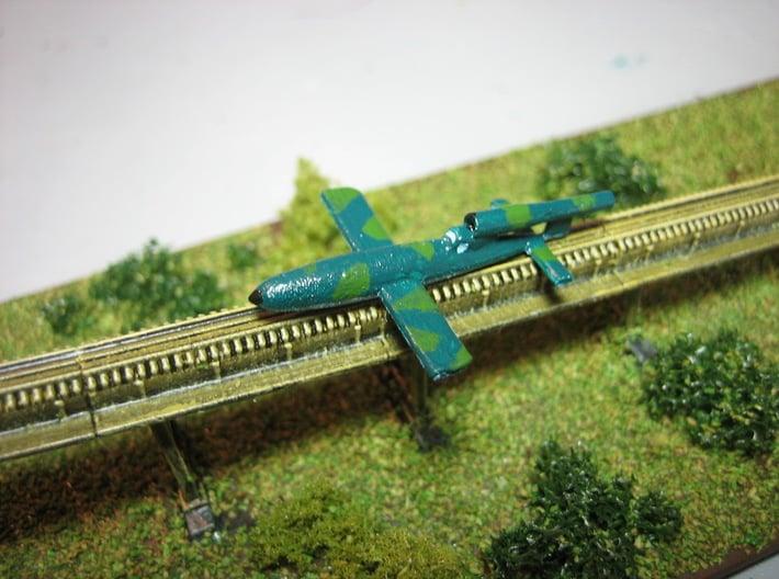 V1 Rocket Reichenberg 1/200 3d printed 1/285 Model shown