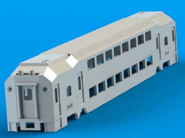 NJ Transit MultiLevel Coach N Scale 3d printed