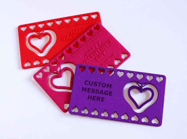 My 3D Printed Valentine - Customizable 3d printed