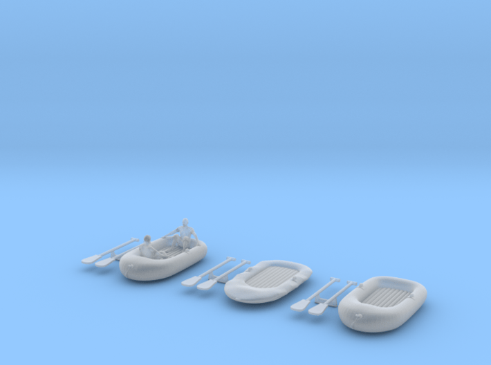 Rubberboat (1:87) 3d printed