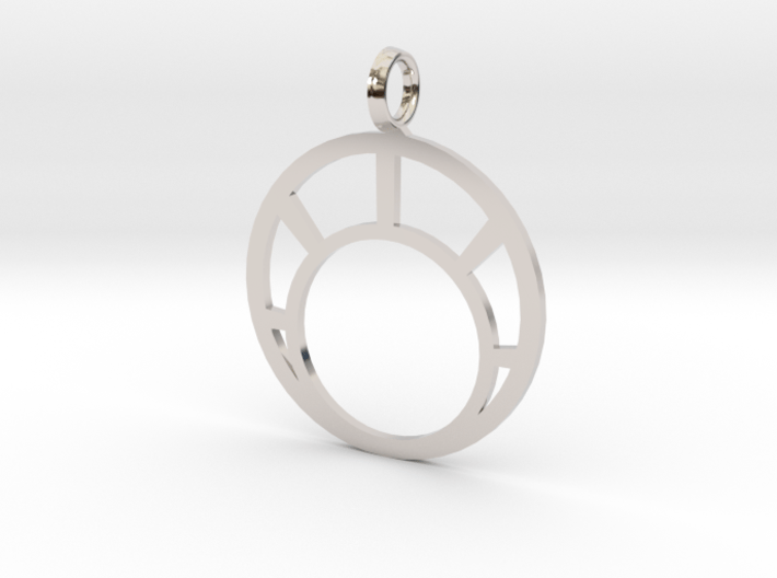 Combination Pendant Front 25 mm 3d printed