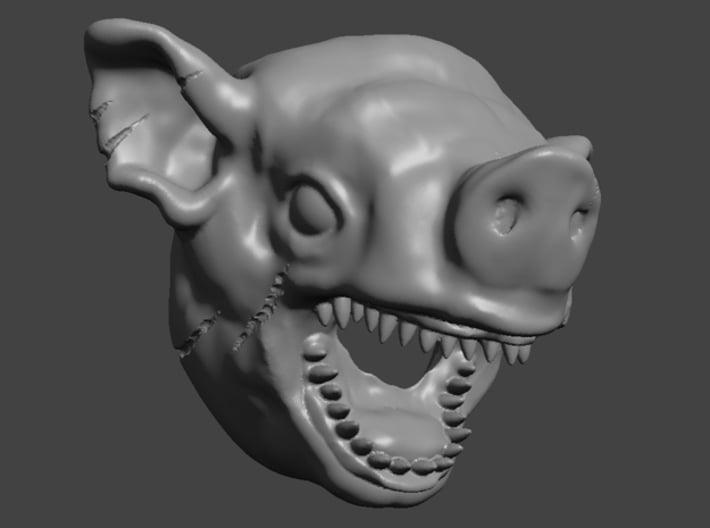 28mm Monster / Mutant / Beastmen / Demon Pig Heads 3d printed