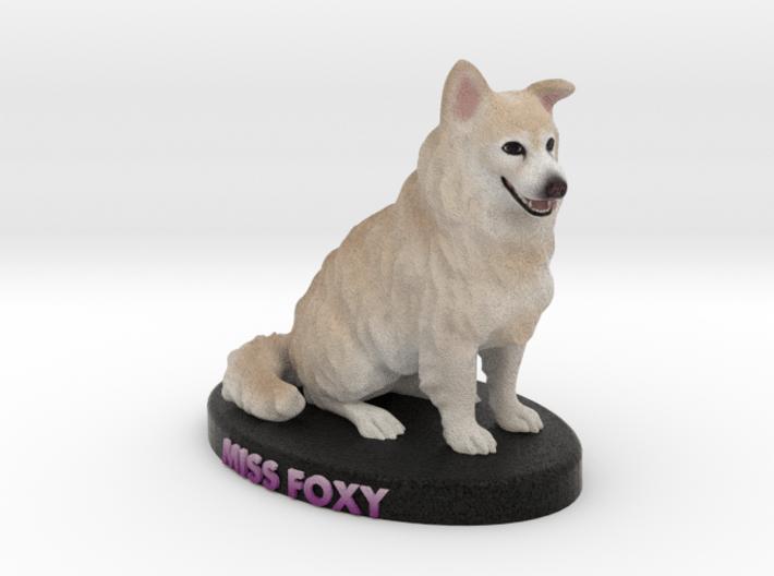 Custom Dog Figurine - Miss Foxy 3d printed