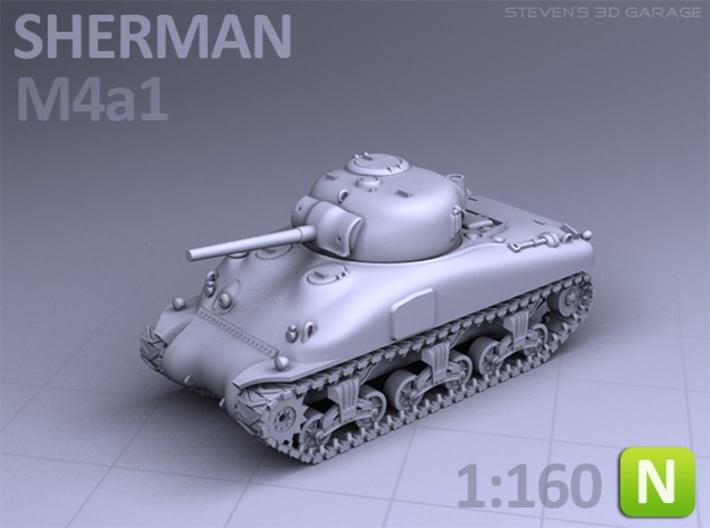 SHERMAN M4A1 (N scale) 3d printed