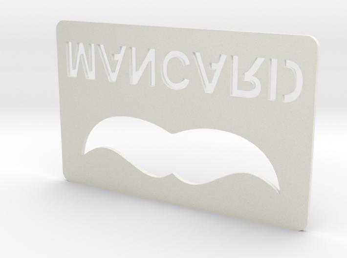Man Card Bottle Opener 3d printed