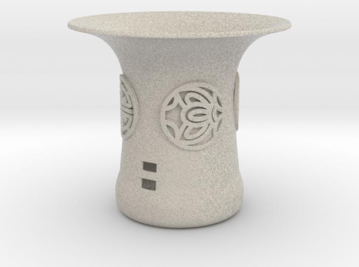 Hwa Bun Pot With Korean Symbols (001) 3d printed Hwa Bun Pot