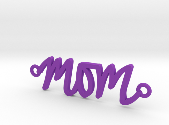 Mom Handwriting Necklace 3d printed