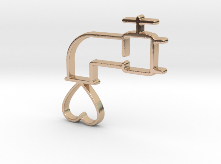 Love Tap Pendant - Amour Collection 3d printed