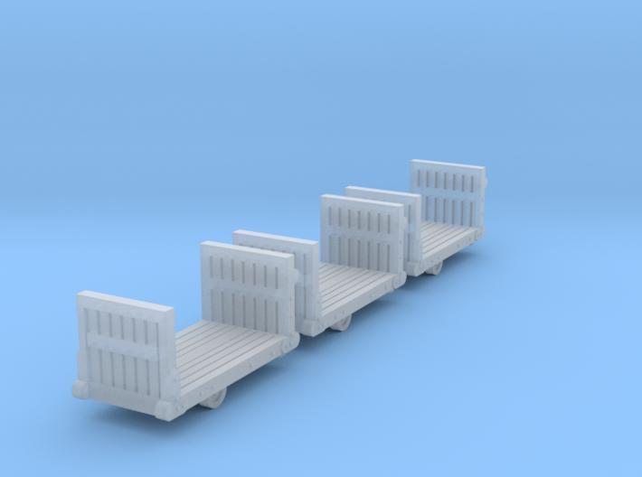3 Bahnsteig-Gepäckkarren (N 1:160)  3d printed