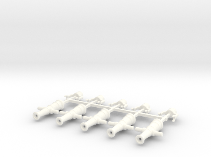5 x Swivel Gun 3d printed