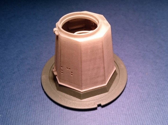 YT1300 DEAGO TURRET WELL STOCK  3d printed DeAgo turret well attached to the stock part.