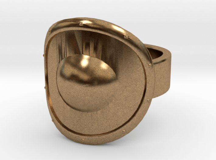 Round Shield Ring Size 10 3d printed