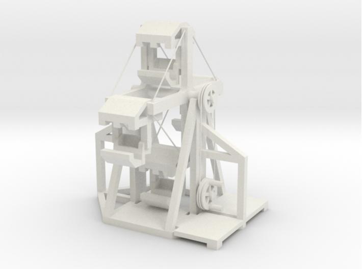 Mittelalter Riesenrad - 1:160 (N scale) 3d printed zusammengesetzt - mounted