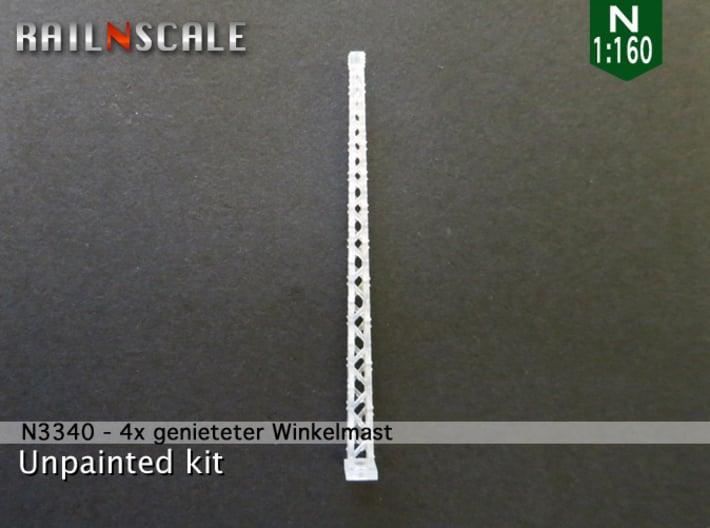 4x genieteter Winkelmast (Epoche I - N 1:160) 3d printed