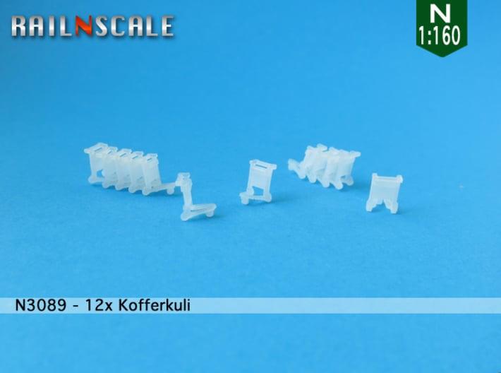 12x Kofferkuli (N 1:160) 3d printed