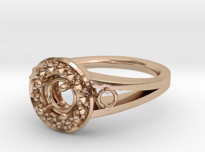 Split Halo Engagement Ring 3d printed
