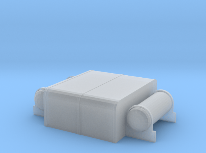 HO-scale Whitcomb 65 Ton Fuel/Air Tanks 3d printed