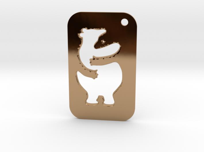 Bear Tag 3d printed