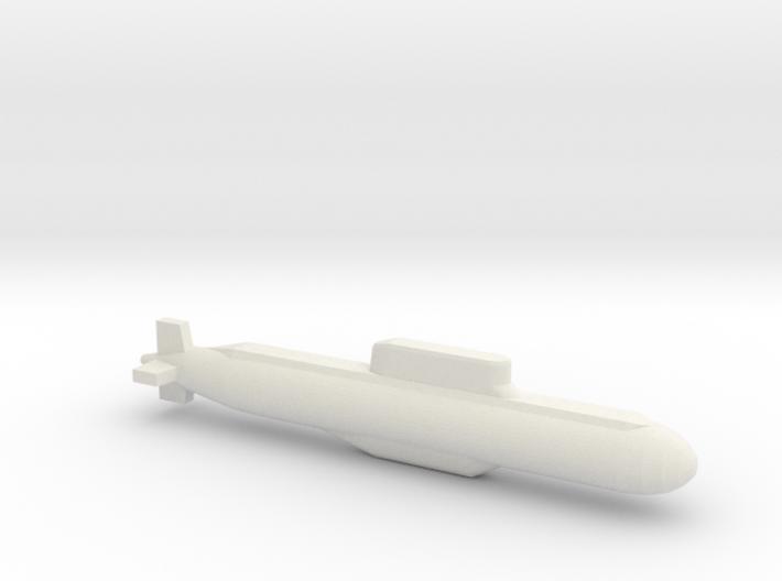 032 submarine, Full Hull, 1/2400 3d printed