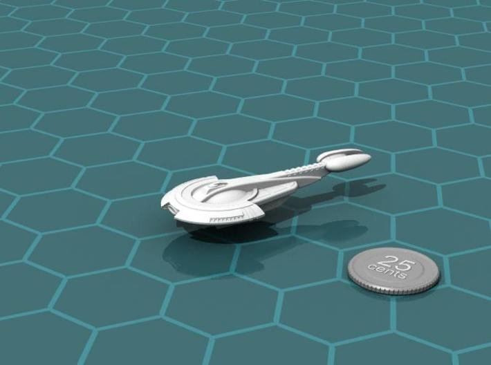 Aratouk Savakt class Cruiser 3d printed Render of the model, with a virtual quarter for scale.