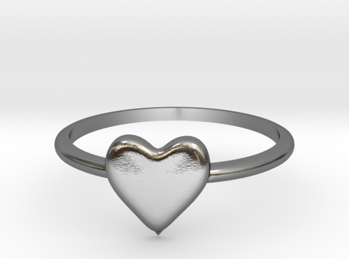Heart-ring-solid-size-13 3d printed