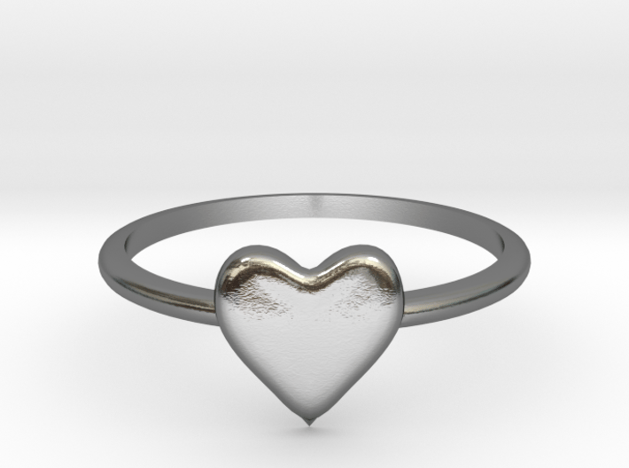 Heart-ring-solid-size-5 3d printed