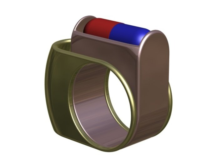 Box for Compact Pillbox Ring - size 10 3d printed Pillbox Ring opened