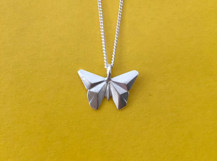 Origami Butterfly 3d printed Origami Butterfly Pendant