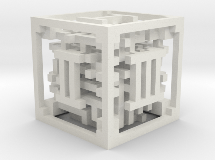 Maze Dice 3d printed