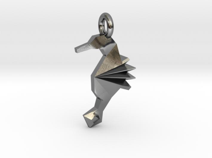 Origami Seahorse 3d printed