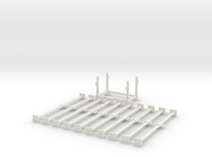 1:50 10x LONG Scafolding pipe + 1x Container box P 3d printed