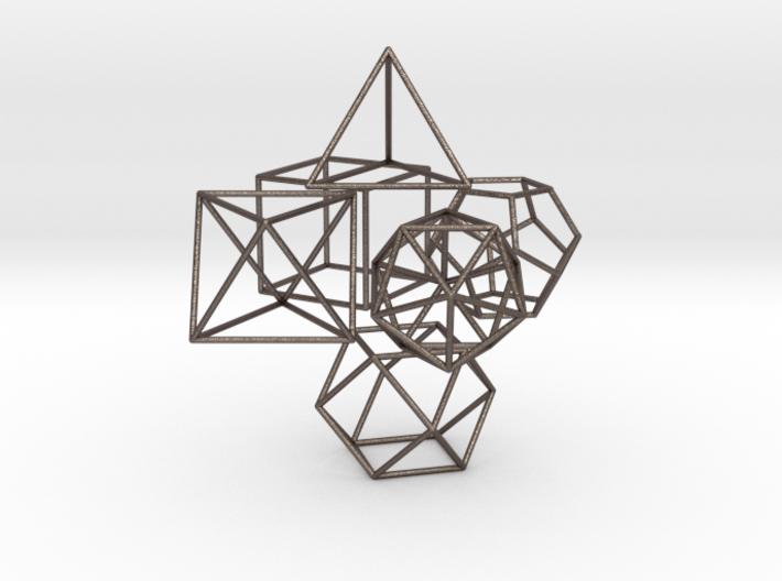 Small Set Of Platonics+VectorEquilibrium (30mm X1. 3d printed