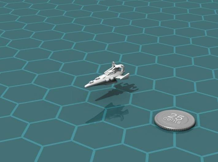 Novus Regency Corvette 3d printed Render of the model, with a virtual quarter for scale.