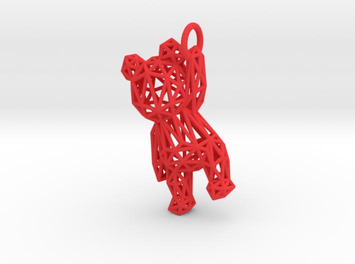 Teddy Bear pendant - ring, edges - 60mm 3d printed