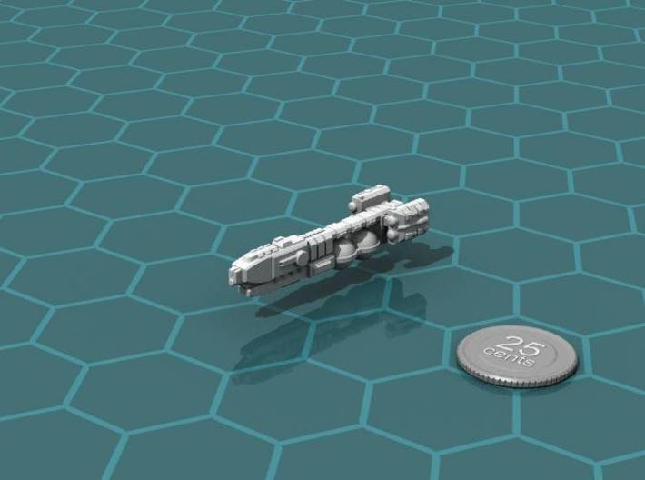 Frontier Explorer 3d printed Render of the model, plus a virtual quarter for scale.